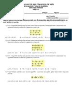 Algebra 9° periodo 2