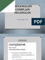 Menanggapi Complain Pelanggan