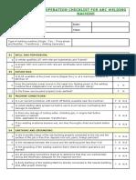 Welding Machine - Operation Checklist