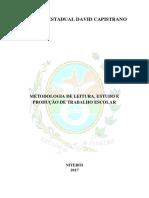 Metodologia de Leitura, Estudo e Produção de Trabalho Escolar