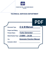 Generator Erection Manual THW 210 2A 2B (212)