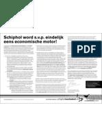 Schiphol word s.v.p. eindelijk eens economische motor!