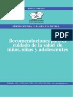 Recomendaciones Para El Cuidado de La Salud de Niños, Niñas y Adolescente