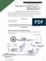 PL 0297220180606 - LEY QUE DECLARA DE INTERÉS NACIONAL EL RECONOCIMIENTO DEL DÍA FÚTBOL PERUANO,  REALIZÁNDOSE EL TERCER SÁBADO DEL MES DE JUNIO