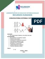 Monografia Convocatoria Externa e Interna
