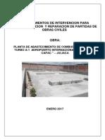 Procedimientos de Reparacion de Planta de Combustible-Obras Civiles