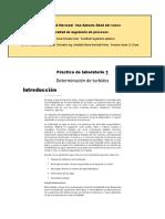 Determinacion de La Turbidez (Aguas)