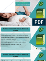 Natural Treatment to Reduce Menstrual Cramps, Bloating in Girls