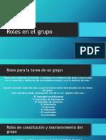 Roles en El Grupo