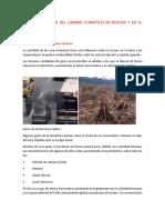Causas y Efectos Del Cambio Climático en Bolivia y en El Mundo