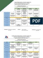 Class Schedule 2018 - 2019 June to October
