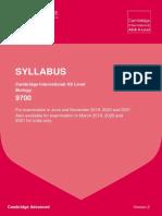 9700_y19-21_sy as Level Biology Syllabus