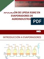 Aplicación de Lipesa 9184 en Evaporadores