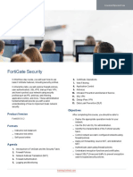 FortiGate Security Course Description Online