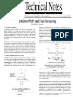 Effective Width & post Tensioning