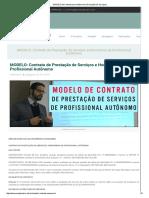 MODELO de Contrato Para Autônomos (Prestação de Serviços)