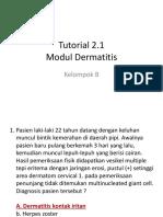 Tutorial 2.1 Dermatitis