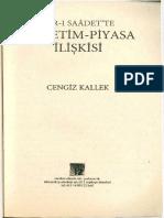 Prof. Dr. Cengiz KALLEK- Asr-ı Saadet'Te Yönetim Piyasa İlişkisi. Fn Yazı