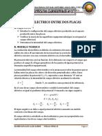 Campo Electrico Entre Dos Placas Informe 2