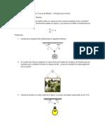 Ejercicios de Aplicación de La 1ra Ley de Newton