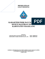 Karakter Fisik Dan Non Fisik Dusun Mantran Wetan Kabupaten Magelang