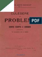 Traian Lalescu - Culegere De Probleme De Geometrie Descriptivă Și Cosmografie [1912].pdf