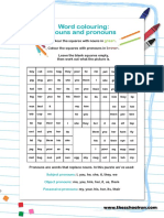 Word Colouring Nouns and Pronouns