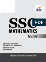SSC Mathematics Guide by DISHA