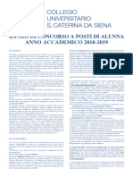 Collegio Universitario S. Caterina da Siena -Università di Pavia BANDO 2018-2019