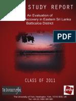 Post-war recovery in Eastern Sri Lanka - Batticaloa District | Field Report