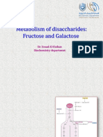 Metabolism of Disaccharides