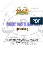 Sierre Leone Guidelines for Medicinal Pdts