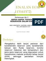 Aspek-Aspek Teknik Reservoir Dalam Eor