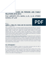 Updates of Cases on Persons and Family Relations 2010
