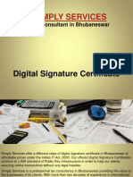 Simple Servie Digital Signature Certificate