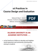 Siliman Best Practices in Course Design and Evaluation