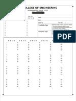 120 Questions OMR Sheet