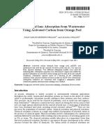 Adsocion de iones de metales pesados usando carbon activado en cascara de naranaja E-J Chem 2012.pdf