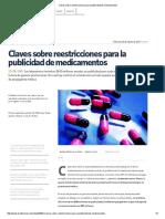 Claves sobre reestricciones para la publicidad de medicamentos.pdf