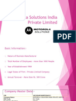 Motorola Solutions India Private Limited