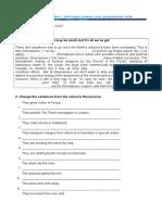 Grammar Worksheet - Verb Tenses, Passive Voice, Verb Preposition