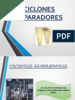 CICLONES SEPARADORES