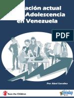 Situación Adolescencia en Venezuela