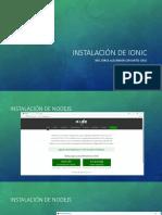 Instalación de Ionic