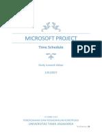 Tugas Manajemen Proyek Menggunakan Ms Project