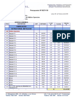 presupuesto N° 0028-018 PROMET - EDIFICIO OPERARIO