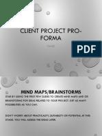 Idea Development Pro-Forma
