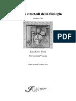 L.C. Rossi - Finalità e Metodi Della Filologia (2003)
