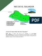 Cuál Es El Volcán Más Alto de El Salvador