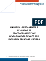 Gestão Territorial Para Recursos Hídricos - Unidade_4- Ferramentas Aplicadas Ao Geoprocessamento